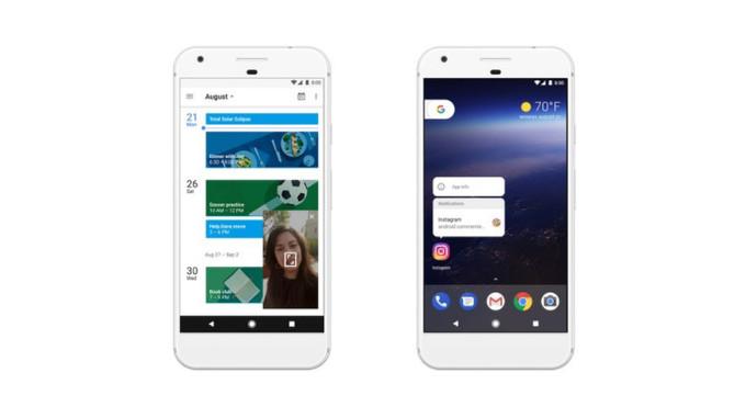 Android Oreo - obraz w obrazie