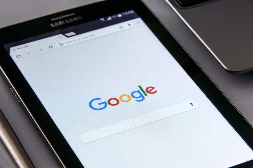 Google menu