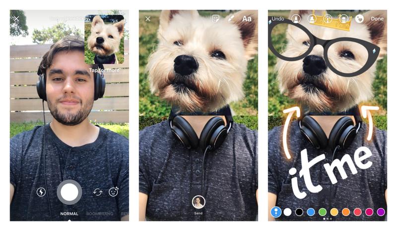 Odpowiadanie zdjęciami na Instagramie