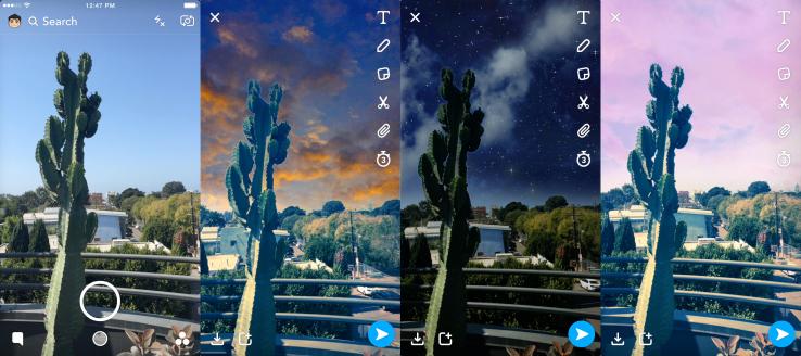Snapchat - nowe filtry