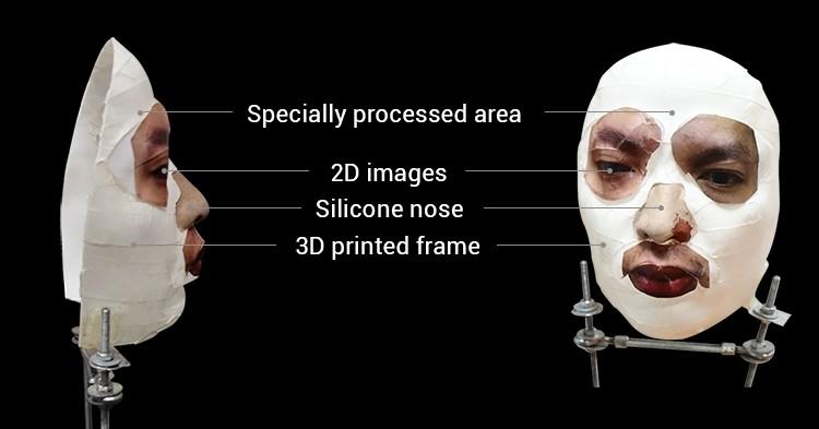 maska użyta do oszukania Face ID