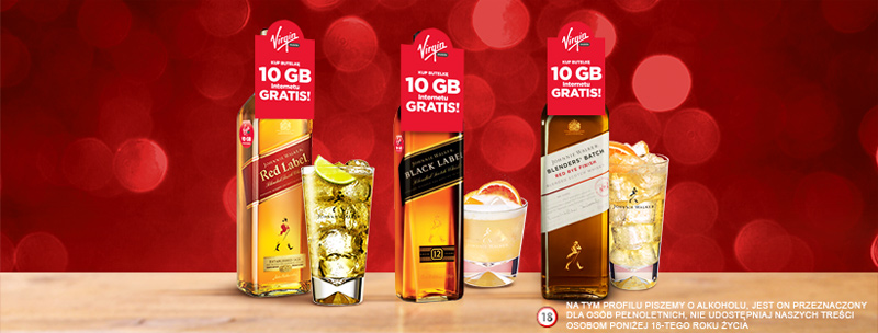 10 GB internetu w Virgin Mobile za zakup alkoholu