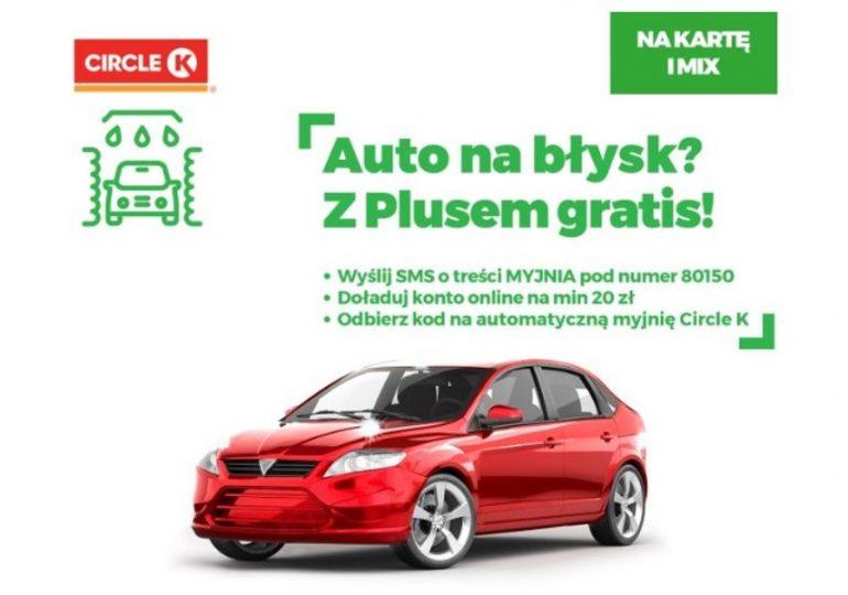 Plus umyje Ci auto - promocja Auto na Błysk