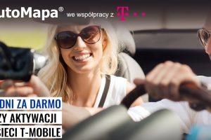 AutoMapa w T-mobile za darmo na majówkę