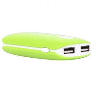 Powerbank WHITENERGY 4000mAh 2xUSB 2.1A/1A Zielony