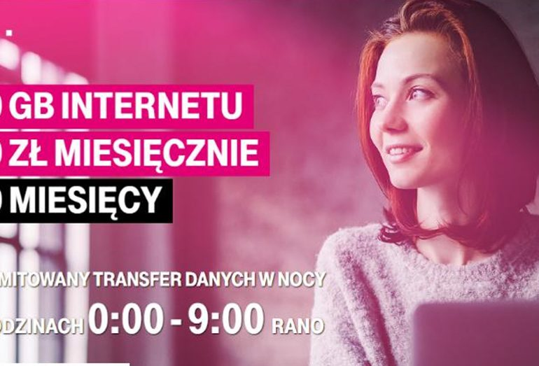 Nielimitowany internet od 00:00 do 09:00 w T-Mobile!