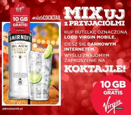 Virgin Mobile alkohol