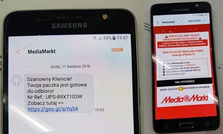 Uwaga na fałszywy SMS o promocji w MediaMarkt