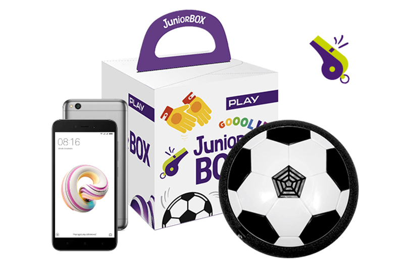 Junior BOX z piłką i Xiaomi Redmi 5A
