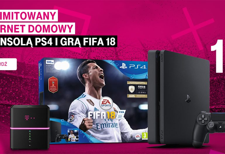 Nielimitowany internet domowy z PS4 i FIFA 18 w T-Mobile