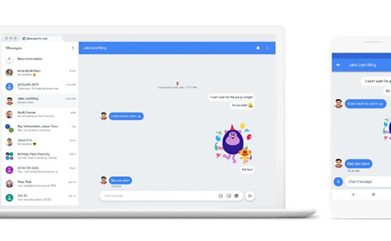 SMS z komputera i inne nowości w Wiadomościach na Androida