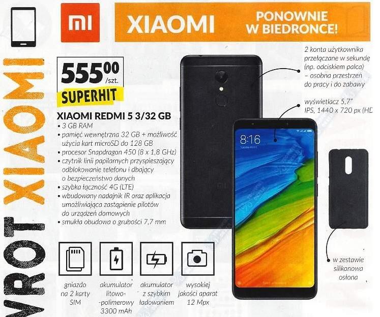 Xiaomi Redmi 5 najtaniej gazetka
