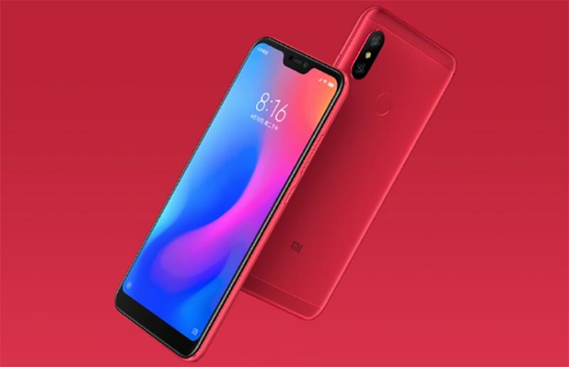 Xiaomi Redmi 6 pro red