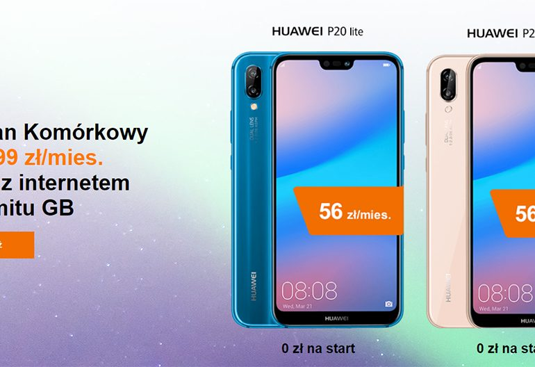 Duet w Orange z Huawei P20 Lite za 0 zł na start