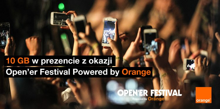 10 GB od Orange w prezencie na Open'er Festival