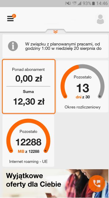 Orange jak sprawdzić stan konta - aplikacja