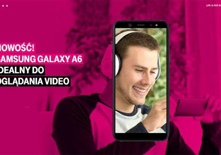 Samsung Galaxy A6 od 1 zł na start - nowość w T-Mobile