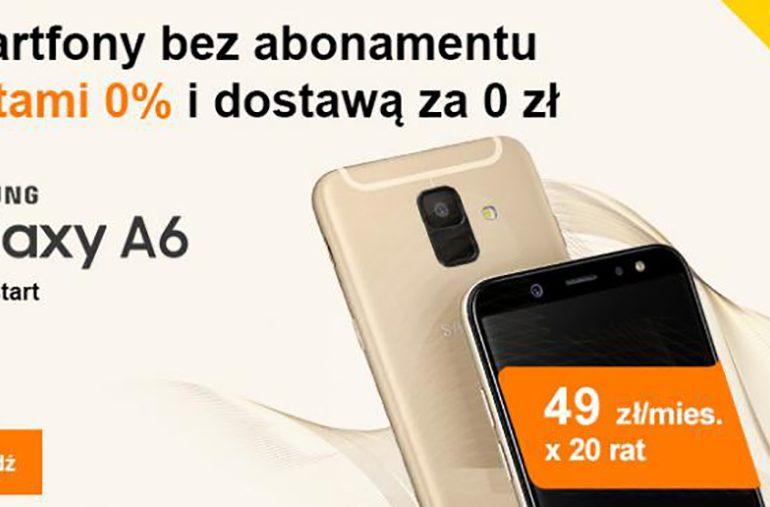 Telefon na raty 0% w Orange z darmową dostawą