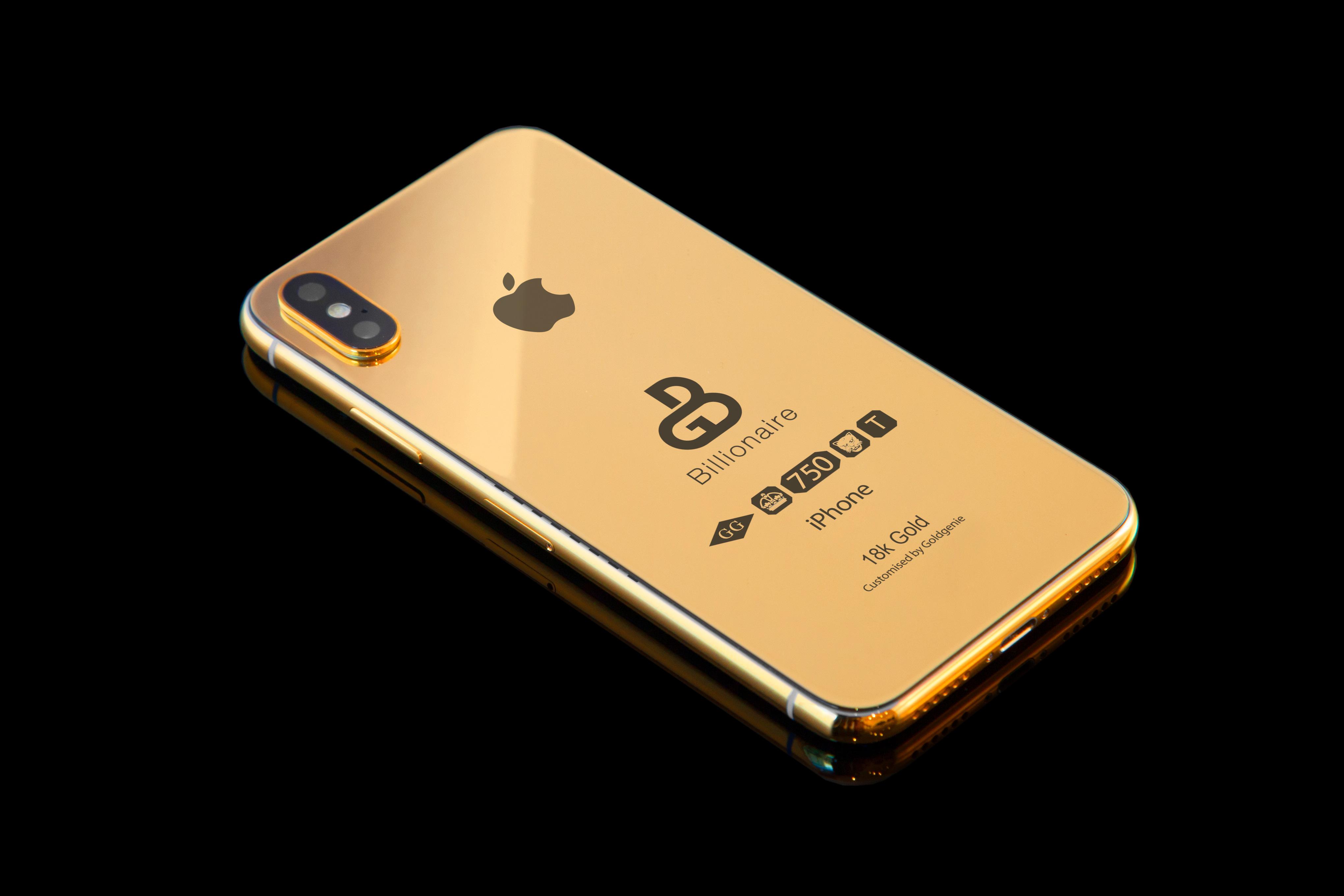 złoty iPhone Xs Billionaire Solid Gold edition 2