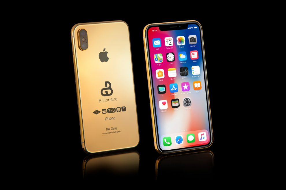 złoty iPhone Xs Billionaire Solid Gold edition