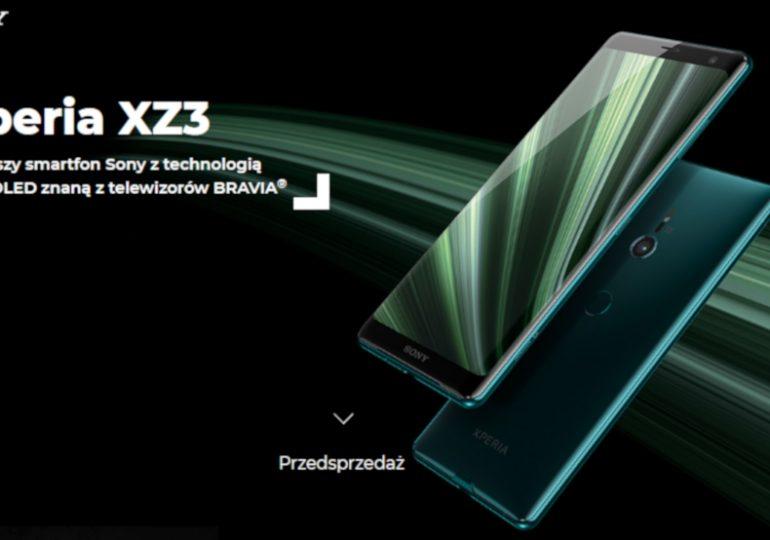 Przedsprzedaż Sony Xperia XZ3 w Plusie