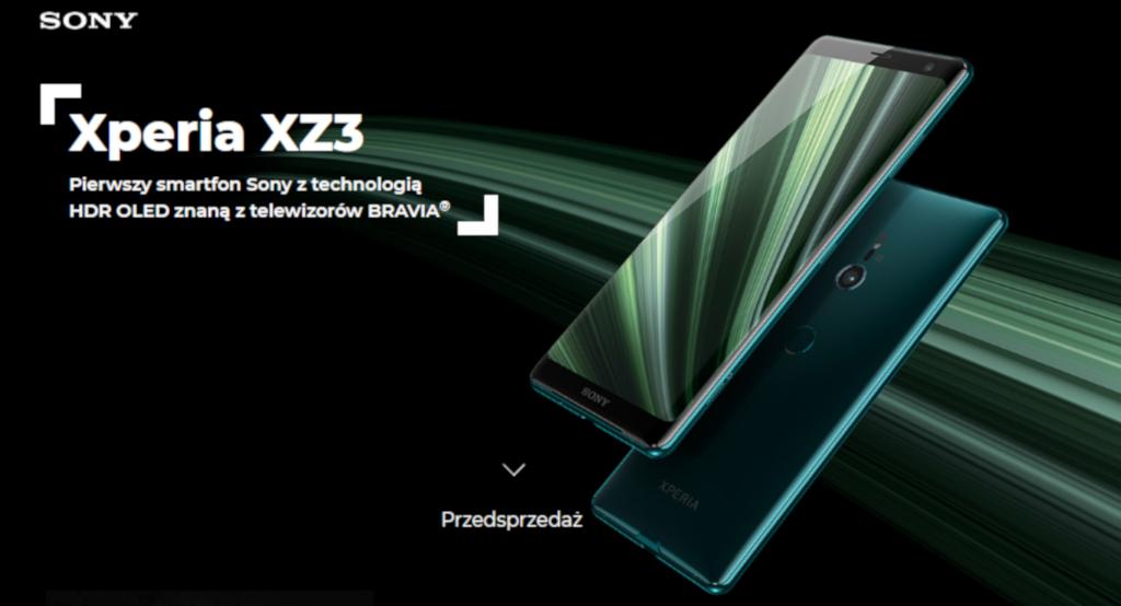Sony Xperia XZ3 w Plusie