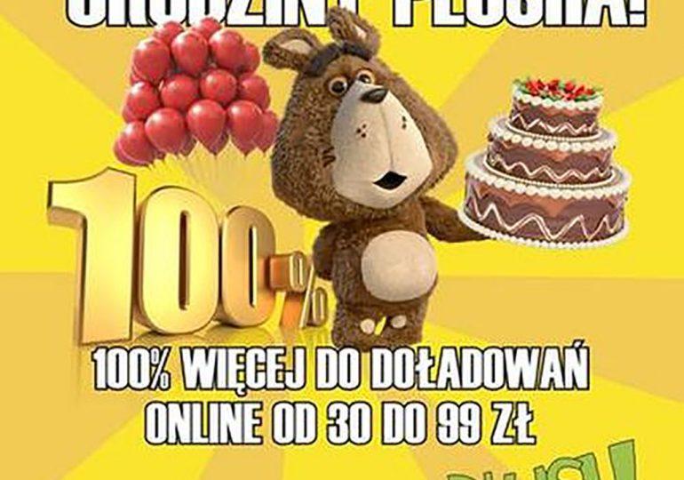 100% więcej do doładowania online w Plushu!