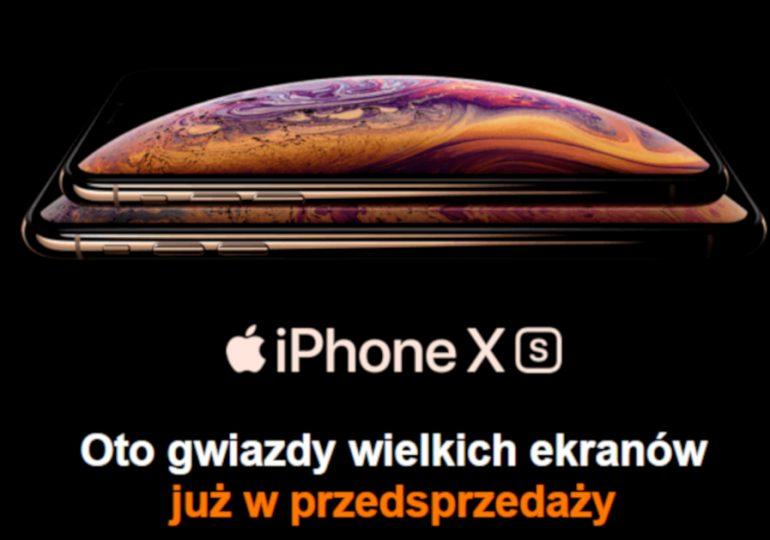 iPhone Xs i Xs MAX w Orange - ruszyła przedsprzedaż