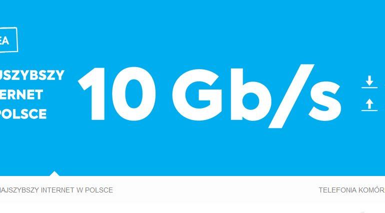 Prędkość 10 Gbps już dostępna w INEA! Ale tylko w Poznaniu