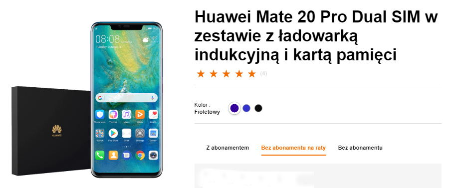 Huawei Mate 20 Pro w Orange