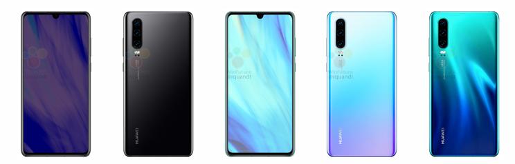 Huawei P30 - rendery