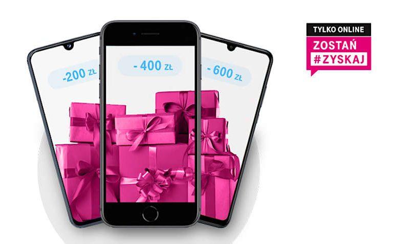 Jeśli przedłużysz umowę z T-Mobile online, dostaniesz zniżkę na telefon