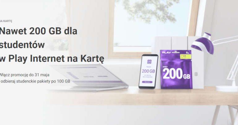 W Play Internet na kartę nawet 200 GB dla studentów!