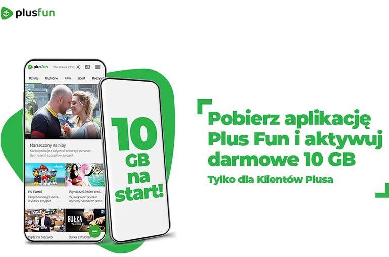 10 GB od Plusa za pobranie aplikacji Plus Fun