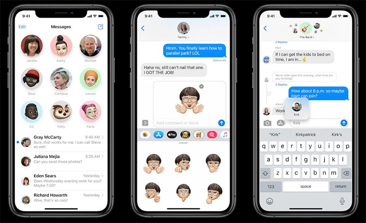 iMessage w iOS 14
