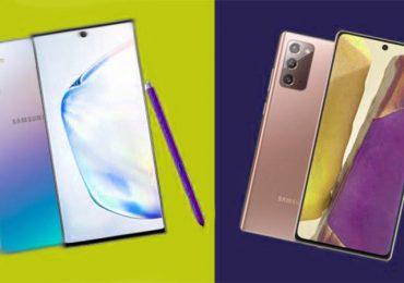 Galaxy Note 20 a Galaxy Note 10 - porównanie
