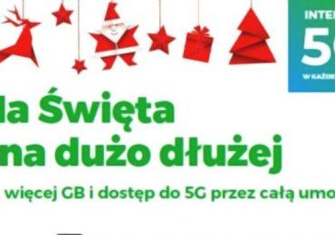 5G w cenie abonamentu i podwojone GB-y w świątecznej promocji Plusa!