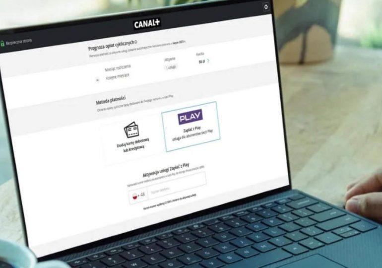 """,,Zapłać z Play"""" - nowa metoda płatności w Canal+"""